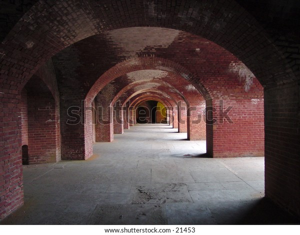 View of walkway at Fort Mason in San Francisco