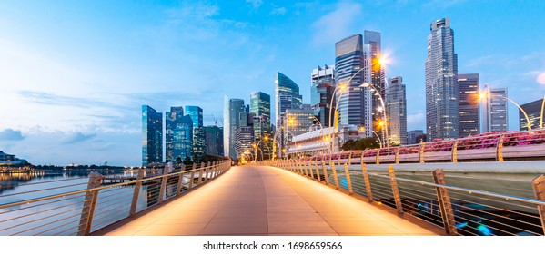 View of the walkway in Singapore