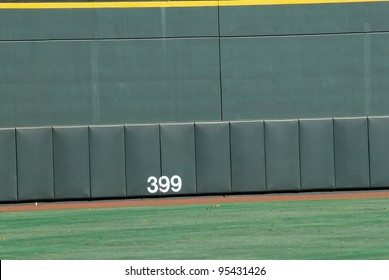 The view of the wall along a center field wall