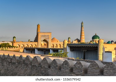View from the wall of Itchan Kala (Ichon Qala) - Khiva (Chiva, Heva, Xiva, Chiwa, Khiveh) - Xorazm Province - Uzbekistan - Town on the silk road in Central Asia.