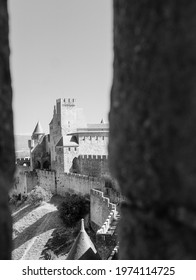 View of walled city, Carcassonne, France