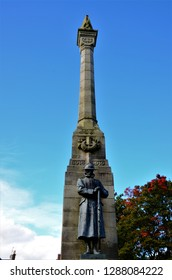 A view of the war memorial in the Perthshire town of Blairgowrie