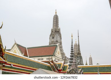 The view of Wat Arun ordination hall. Wat Arun or temple of the dawn is a famous temple in Bangkok, Thailand