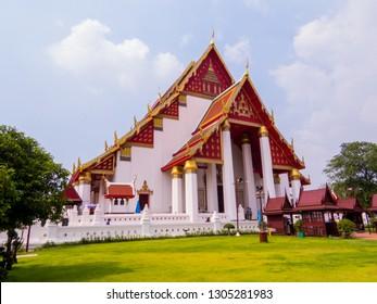 View of the Wat Na Phra Meru (or Wat Na Phra Men), Historic City of Ayutthaya, Thailand