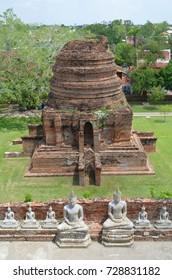 View from the Wat Yai Chai Mongkhon in Ayutthaya, Thailand