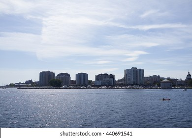A view from the water of Kingston Canada.