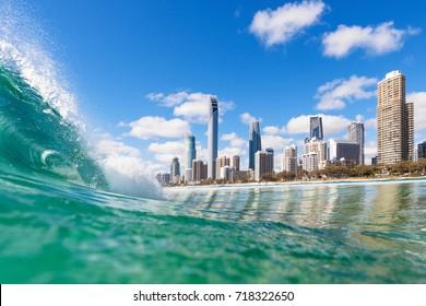 View from the water of Surfers Paradise on the Gold Coast, Australia - Shutterstock ID 718322650