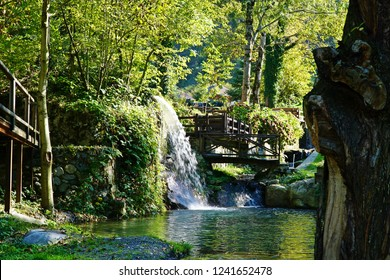 The view of waterfall in the district of Sapanca in Sakarya, Turkey.