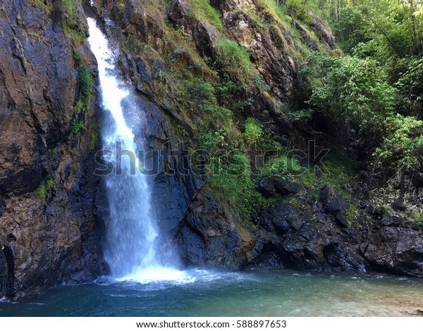 View waterfall, national park