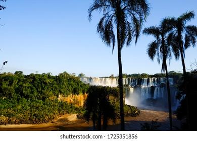 View of waterfalls at the Iguazu Falls, Iguazu National Park, Misiones Province, Argentina