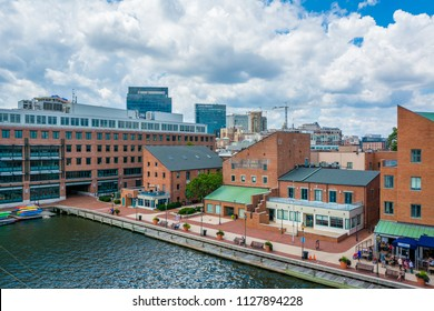 A view of the waterfront in Fells Point, Baltimore, Maryland