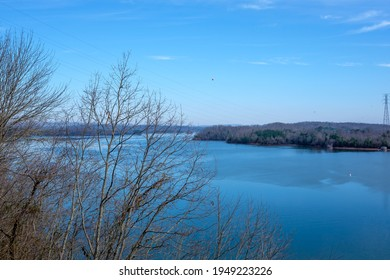 View of Watts Bar Lake just above Watts Bar Dam in Tennessee, USA.