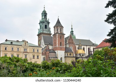 view of a Wawel castle in town  Cracow, Poland