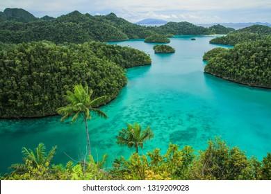 View of Wayag inRaja Ampat, Sorong, West Papua, Indonesia