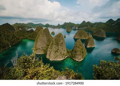 view wayag Island- Raja Ampat, West Papua, Indonesia