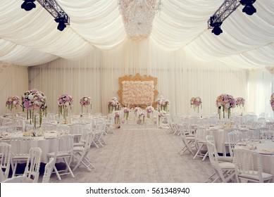 View of the wedding hall, the tent