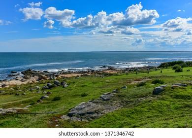 View to the west beach of Jose Ignacio, Uruguay