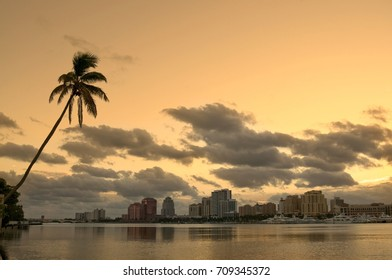 View of West Palm Beach Florida from the Inter-coastal