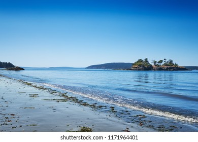 View from the West side of Orcas Island to Freeman Island, Waldron Island and Canada