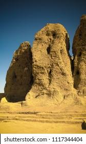 View to Western Deffufa temple in Kerma Nubia, Sudan