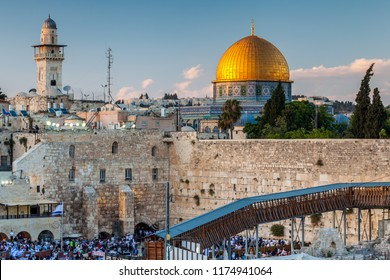 View of the the Western Wall in Jerusalem, Israel