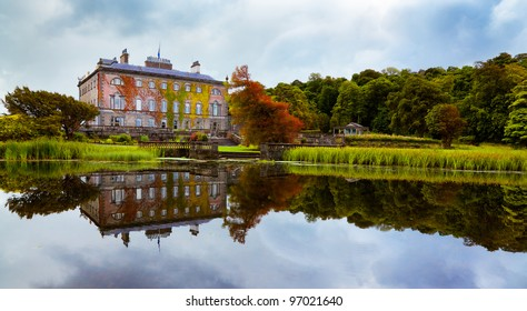 View of Westport house seen from the lake, county Mayo, Ireland.
