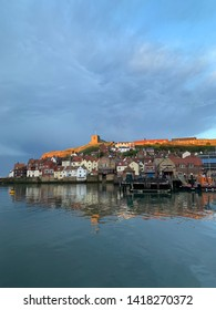 View of Whitby, UK Bay from the water