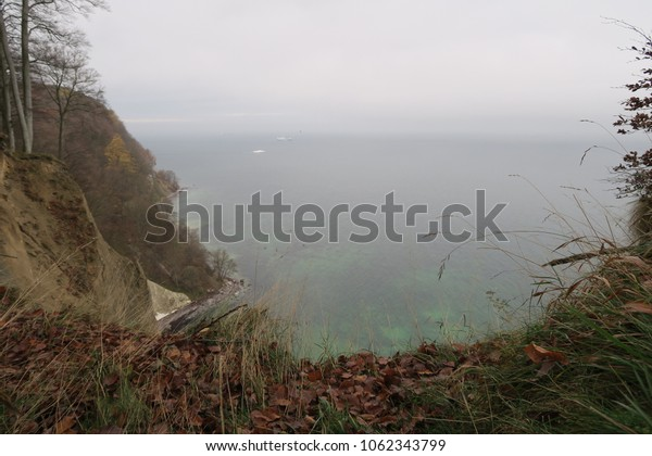 a view from the white cliffs to the baltic sea, rügen island