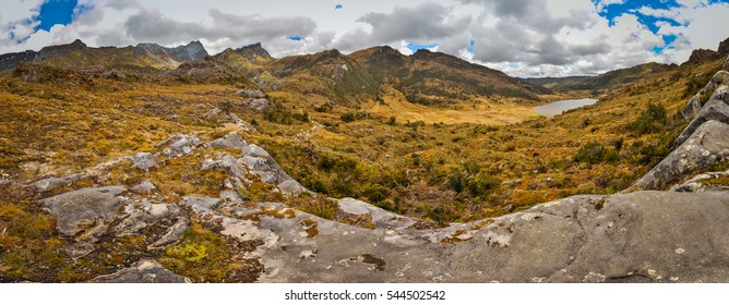 View of wilderness and rocks in Trikora region in Papua, Indonesia. In this region, one can only meet people from isolated local tribes.