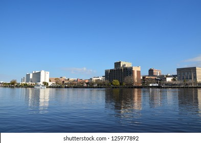 View of Wilmington North Carolina from across the river.
