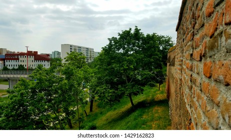 View from the window of ancient Trnava city walls