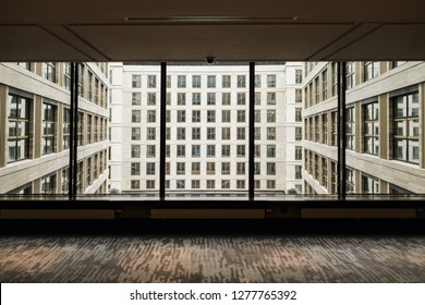 view from the window to another building