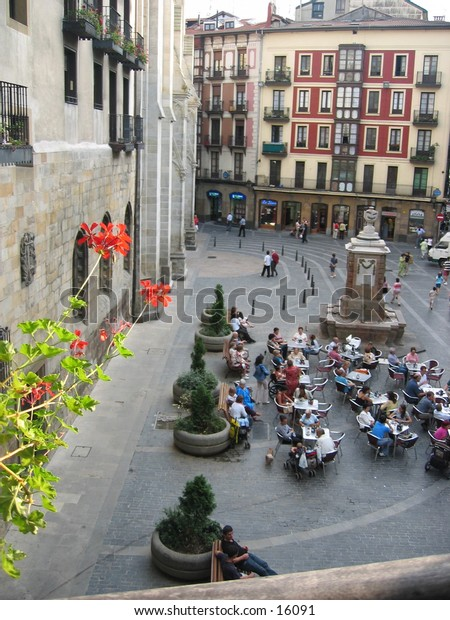View from a window in Bilbao, Spain.