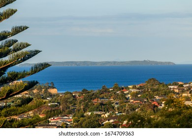 View from the window of a house in Browns Bay, Auckland, New Zealand