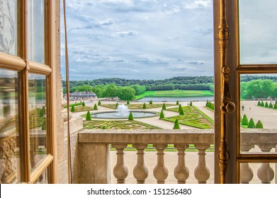 View from the window of the Palace of Versailles