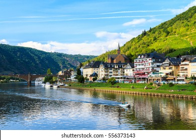View of the wine town Cochem at the Moselle in Germany