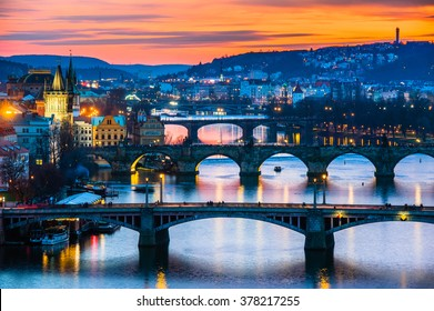 View of winter Prague in Czech republic