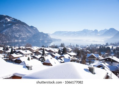 view of wolfgangsee during winter