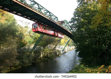 A view of the Wuppertal Suspension Railway in North Rhine-Westphalia, Germany. 10th October, 2010