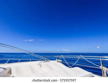 view from the yacht traffic on the sea
