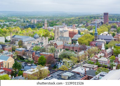 View of Yale University in New Haven, Connecticut