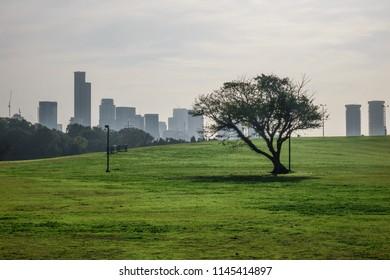 View of Yarkon Park, Tel Aviv, Israel