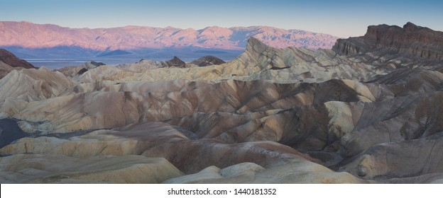 View from Zabriskie Point, Death Valley National Park, Inyo County, California, United States. Death Valley, home of the lowest point in the hemisphere, makes a great winter getaway spot.