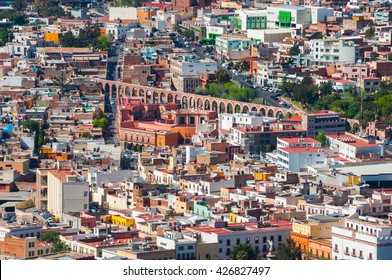 View of Zacatecas with aqueduct (Mexico)