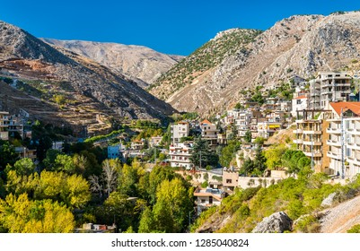 View of Zahle, the capital of Beqaa Governorate of Lebanon. The Middle East
