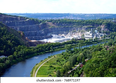 View at Zbraslav quarry and Vltava river