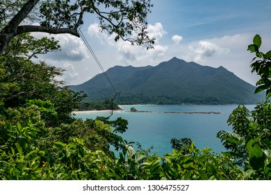 a view of the zip line in sabang palawan Philippines