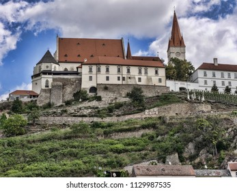 View of Znojmo, from the river Dyje, Czech Republic