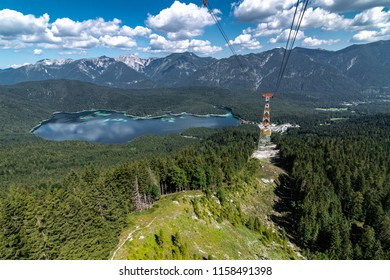 View from the Zugspitze Cable Car, Bavaria, Germany
