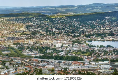 View of Zurich from Uetliberg mountain, Switzerland